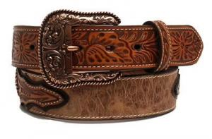 Ariat Western Mens Belt Leather Ostrich