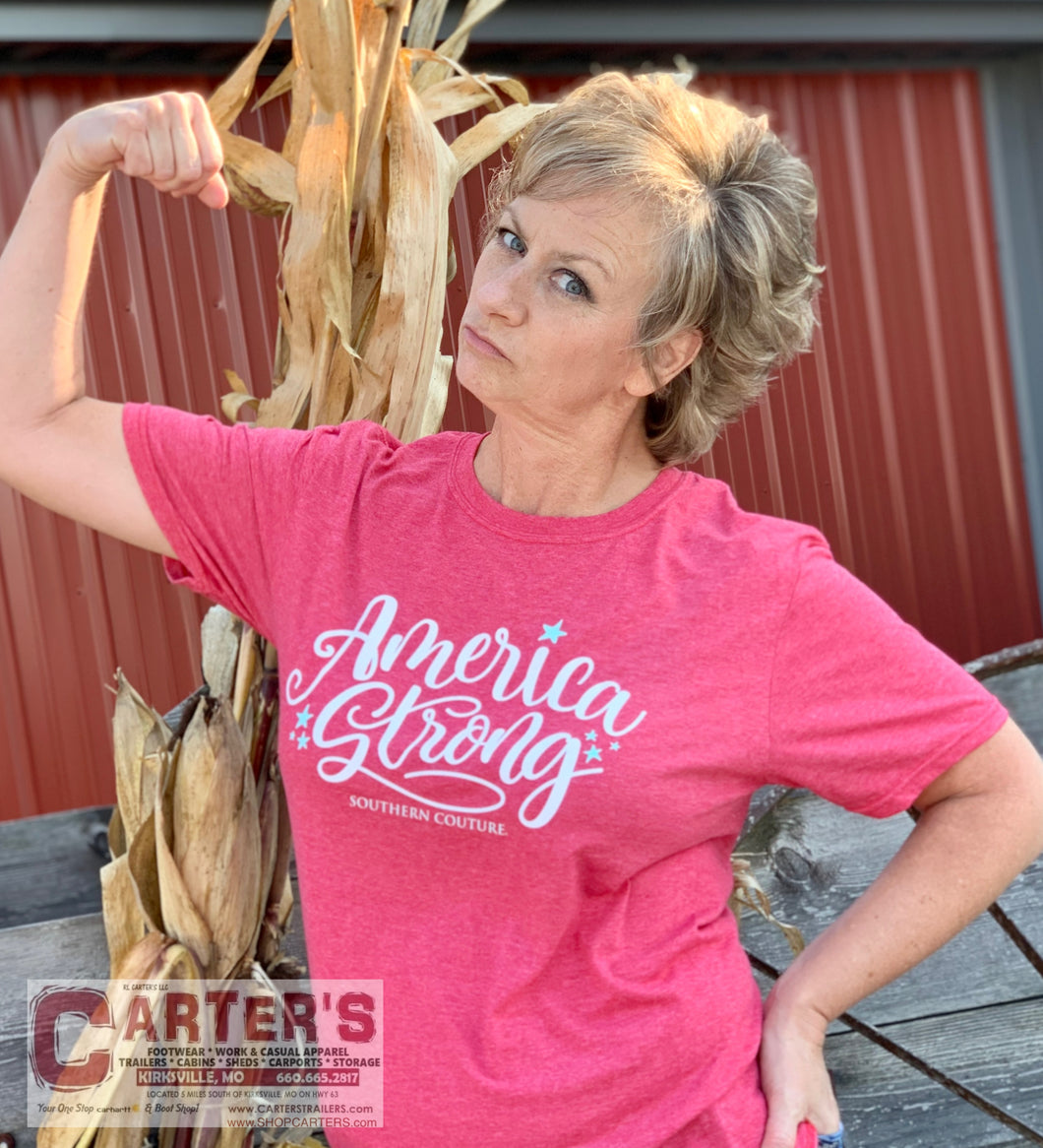 WOMEN'S SOUTHERN COUTURE AMERICA STRONG TEE