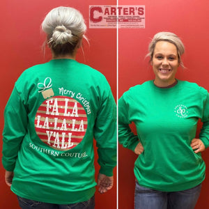 Women's SOUTHERN COUTURE FALALALA Y'ALL Long-Sleeve Tee
