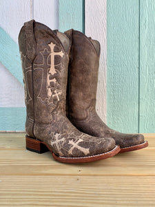 Women's CIRCLE G by CORRAL Cross Embroidered Western Boot