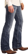 Load image into Gallery viewer, MEN'S ROCK & ROLL DENIM Regular Fit Pistol Bootcut Jeans - Medium Wash