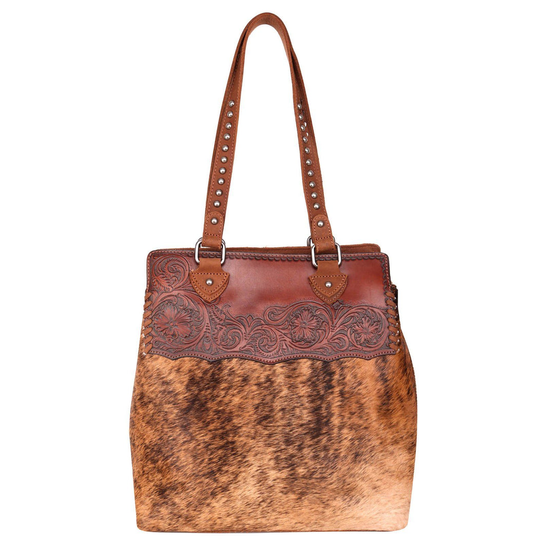Montana West Brown Hair On Western Handbag