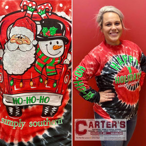 Women's SIMPLY SOUTHERN Santa Truck Long-Sleeve Tee