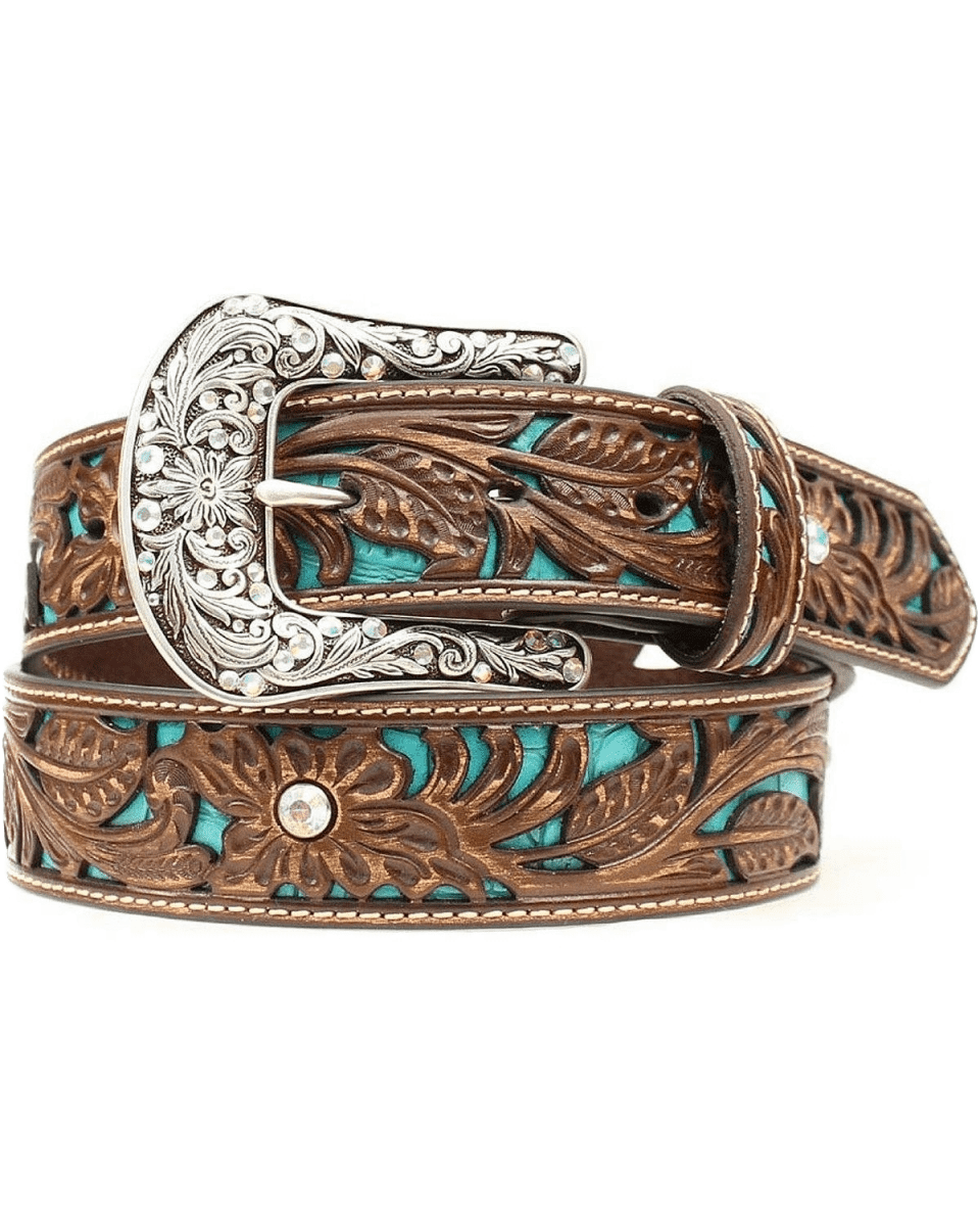 Ariat Womens Tooled Leather Belt
