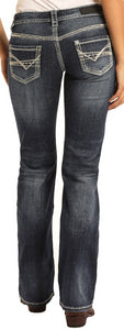 WOMEN'S ROCK & ROLL COWGIRL Midrise Bootcut Riding Jeans
