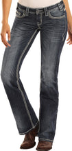 Load image into Gallery viewer, WOMEN'S ROCK & ROLL COWGIRL Midrise Bootcut Riding Jeans