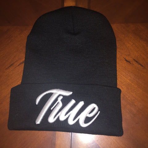 f32b3ee1279 Black   White Stay True Beanie Hat – Selfmadeclothingink