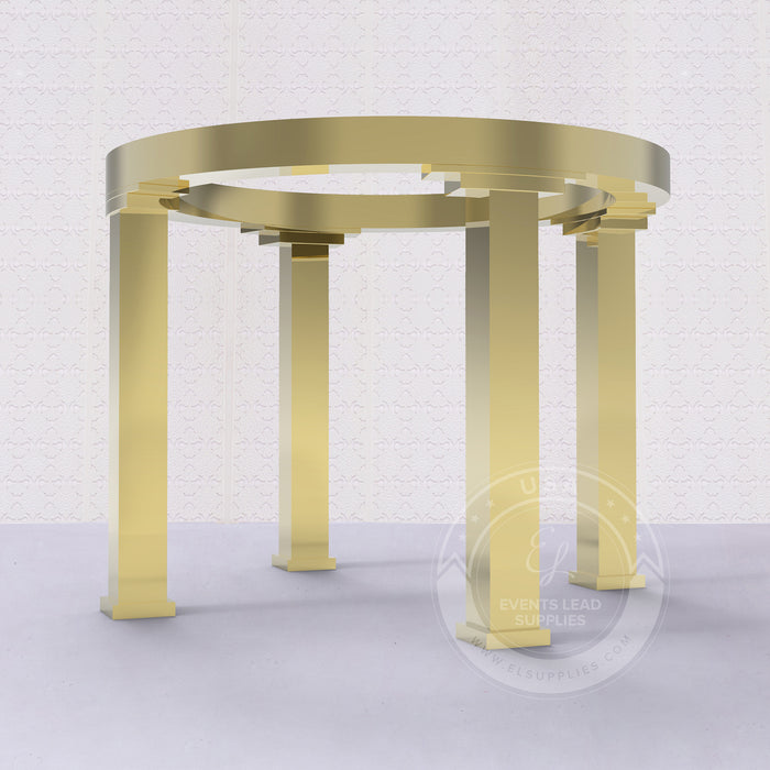 THEMIS Round Mirrored Gold Chuppah Gazebo