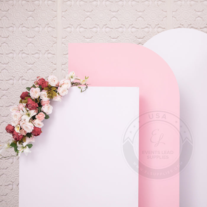 ARDUINNA White and Pink Backdrop