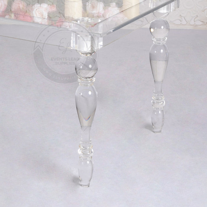 CLARITY Clear Ghost Acrylic Dining Table