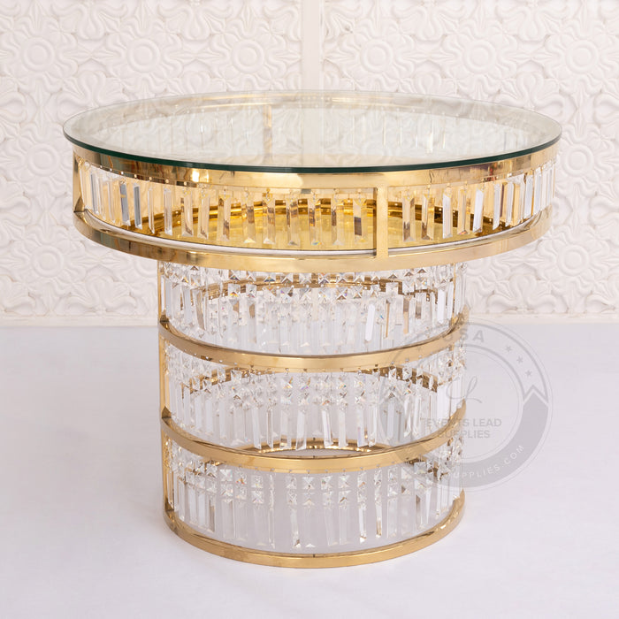CYBELE Crystal Chandelier Cake Table