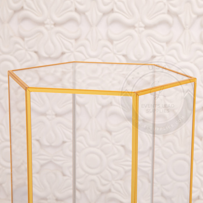 LECANA Clear and Gold Stands