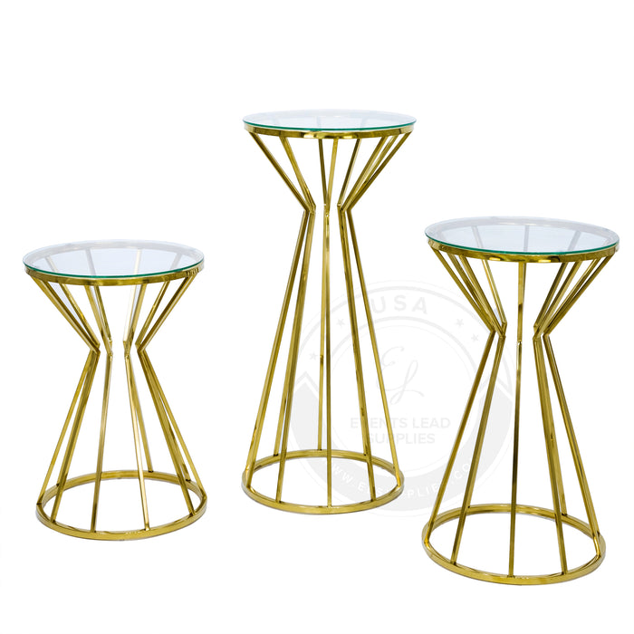 CAGED CONO Gold Stands