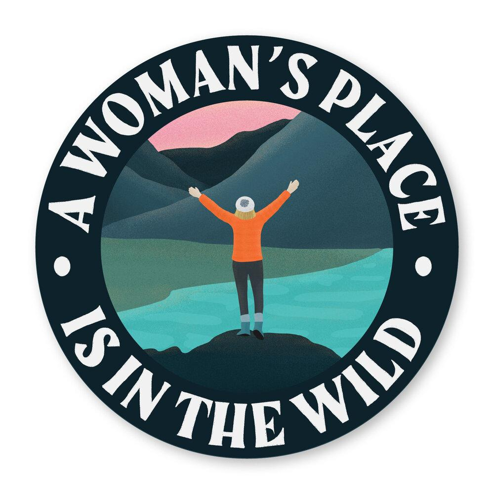 A Woman's Place Is In The Wild Sticker - Amber Share Design-Default Title--