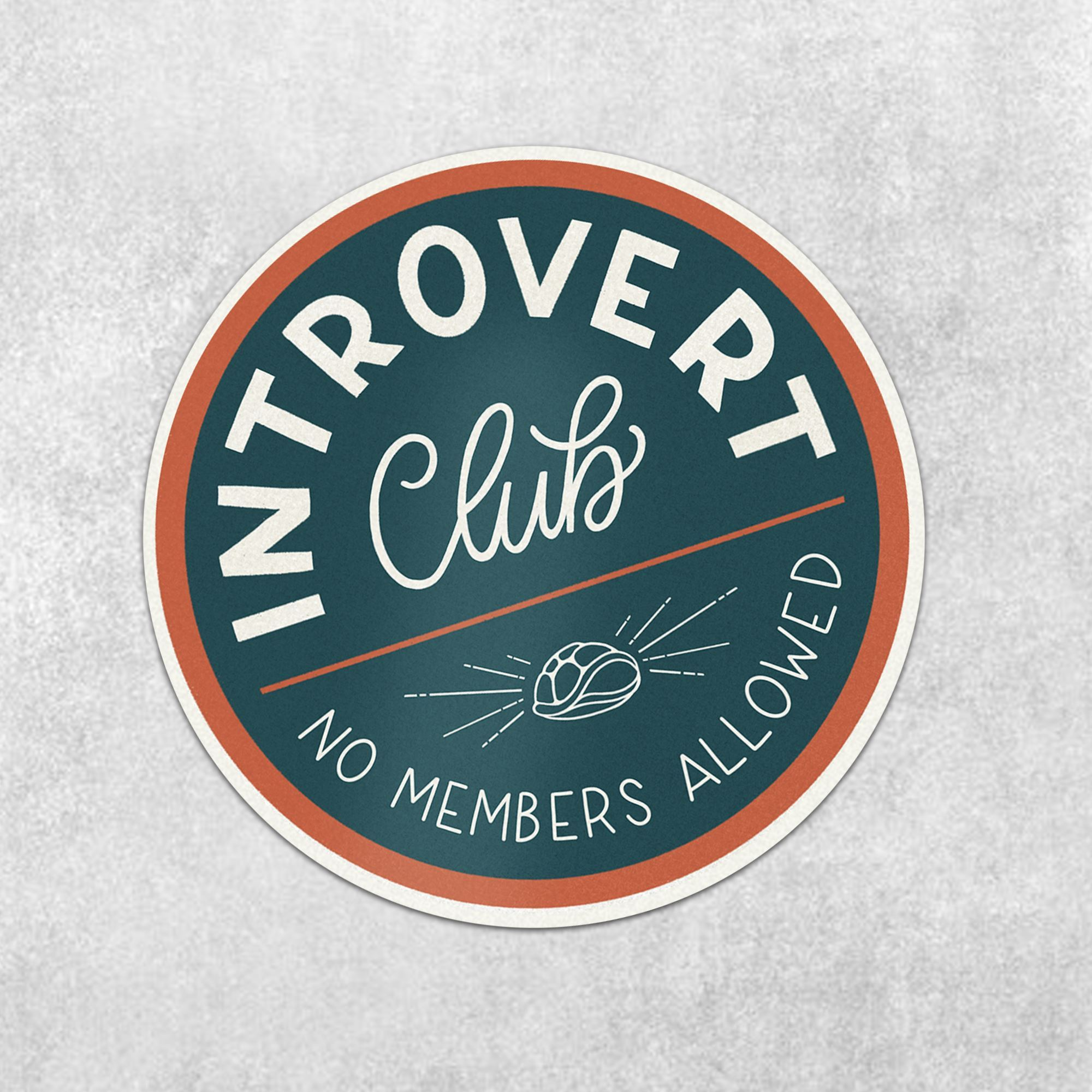 Introvert Club (No Members Allowed) - Amber Share Design-Default Title--