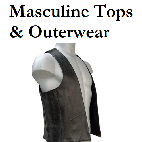 Leather - Masculine Tops & Outerwear