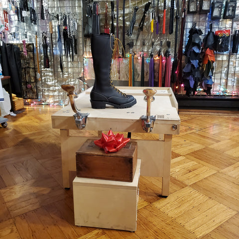 BOOTED boot blacking stand and jobmaster boots