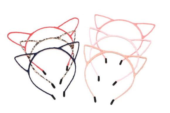 Asst Cat Ear Frame Headband