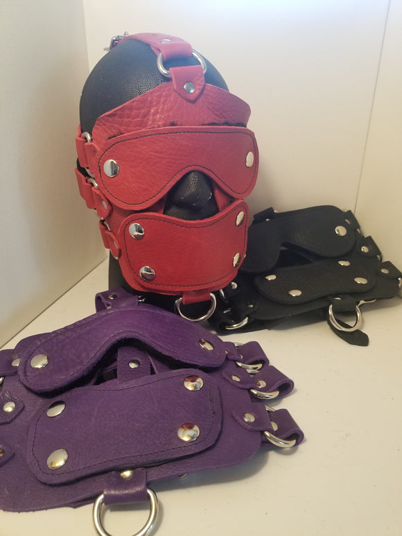 Bullhide Head Harness Media Black Purple Red