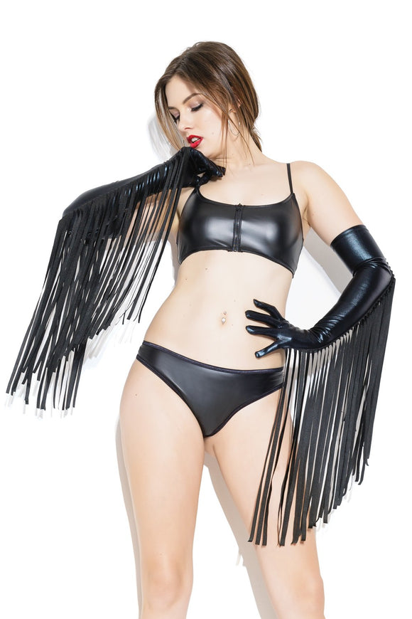 Wetlook Fringe Gloves