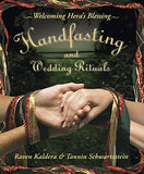The front cover of Handfasting and Wedding Rituals: Welcoming Hera's Blessing - Raven Kaldera & Tannin Schwartzstein.