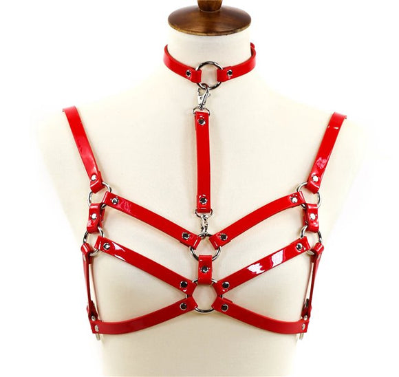 Double Strap Belted Harness with Choker