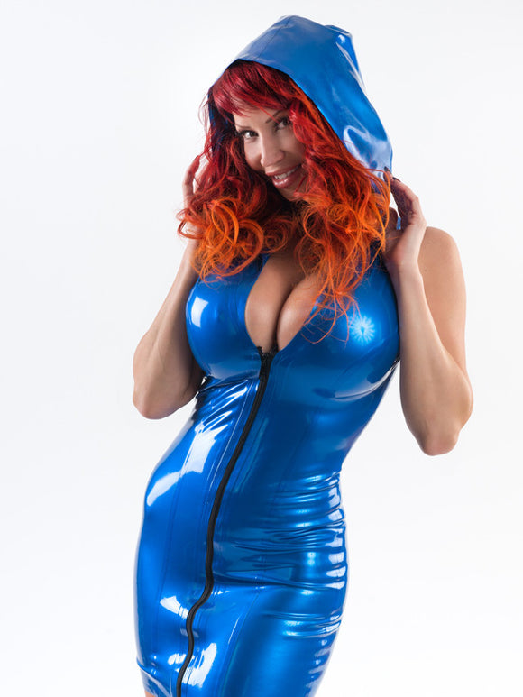 Latex Hoodie Dress