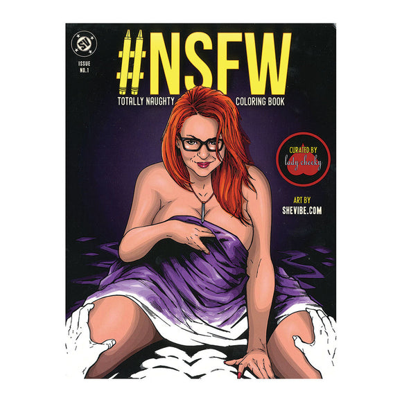 The front cover of the Totally Naughty NSFW Coloring Book.