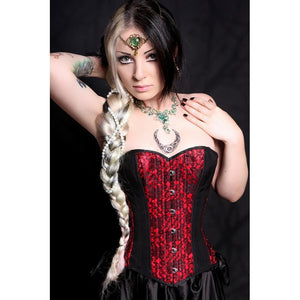 Victorian Red Lace Corset