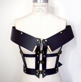 Hubris Off the Shoulder Leather Harness