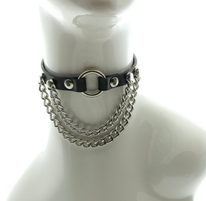 Double Chain Choker w/ Center Ring
