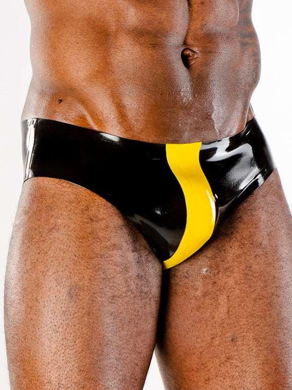 Latex Brief W/ Contrast Band