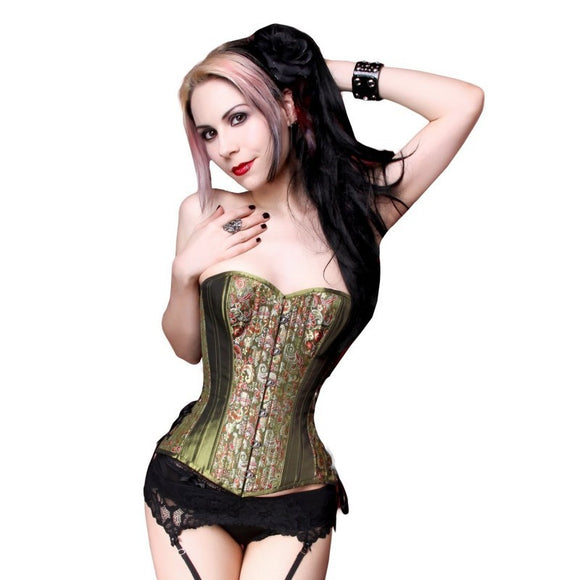 Steampunk Green & Brocade Corset