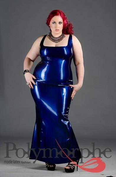 Latex Cocktail Evening Dress