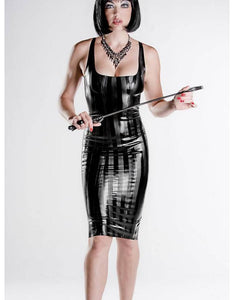 Latex Long Cocktail Dress