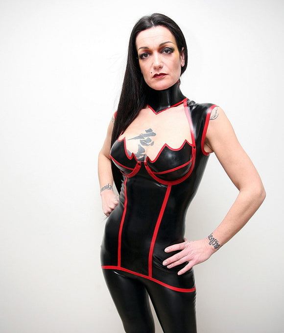 Latex Venus Mini Dress w/ Shoulder Straps