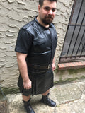Cowhide Heritage Kilt back full body from above