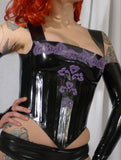 Latex Basque Corset w/ Applique