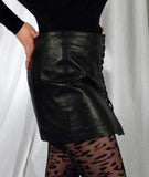 Leather Side Lace Skirt