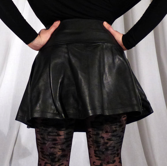 Leather Kilt Skirt