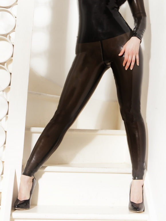Latex Semi-Transparent Leggings
