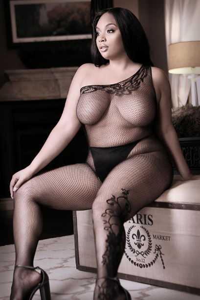 Before Dawn Off Shoulder Bodystocking Plus size front