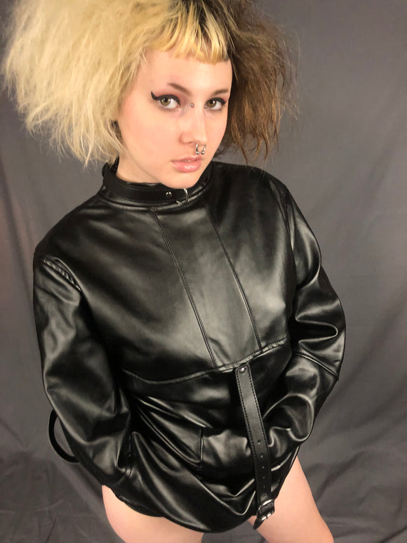 Vegan Leatherette Strait Jacket