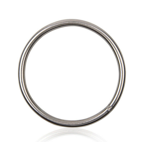 A classic steel suspension ring.