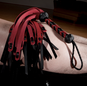 The rainbow colored Medusa flogger