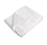 A Folded White Rearz Adult Nighttime Prefold Diaper.