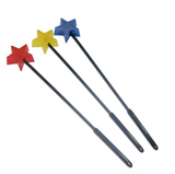 A red, yellow and blue Star Toy Lollipop.