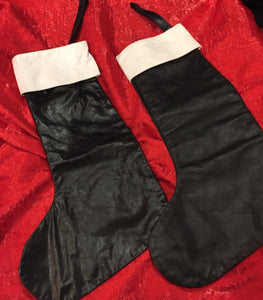 Leather Xmas stocking