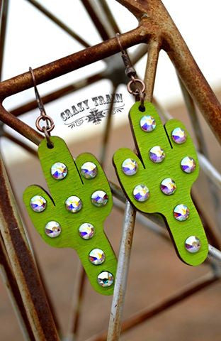 cactus kate earrings by crazy train