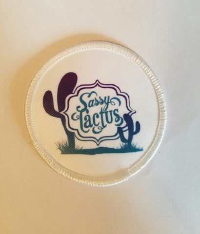 Sassy Cactus Logo Coozie and Patch
